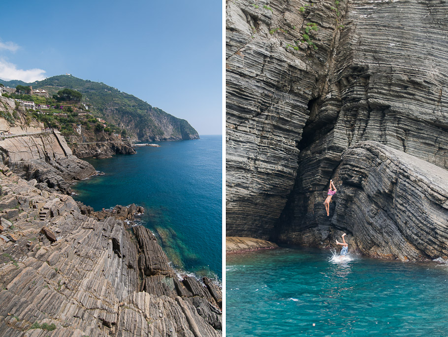 Hiking Trail and Cliff Diving in Riomaggiore