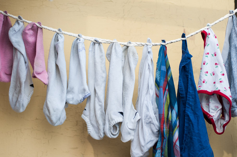 Rick Steves' Cloth Drying Technique