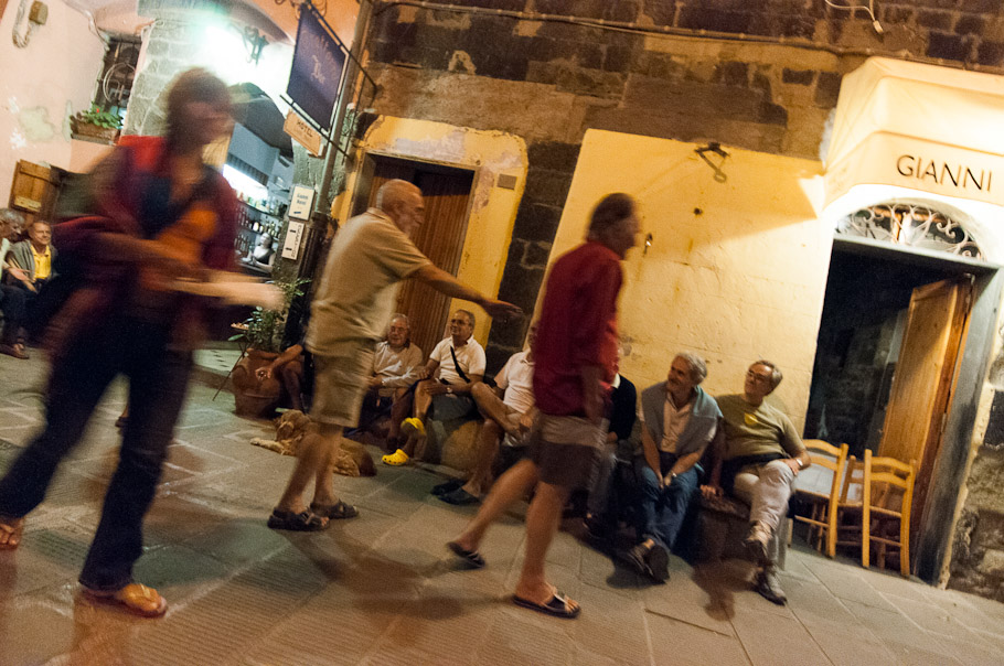Vernazza Locals Hang Out on Street