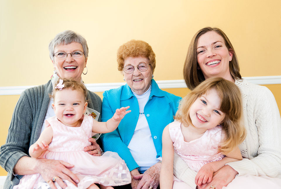 Family, Child, Four Generations, Spring, Virginia, VA