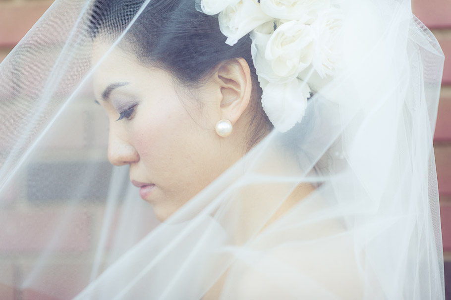 Bride having a calm moment