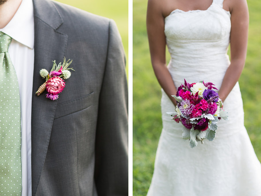 Matching boutonniere and bouquet